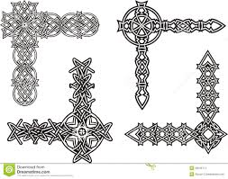 celtic decorative knot corners stock image image 29245711