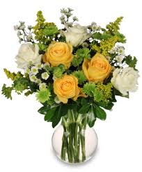 florist ocala fl white yellow roses arrangement in ocala fl blue creek florist