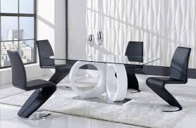 engaging modern minimalist glass dining room tables sets white