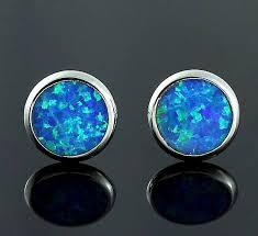 blue earrings blue opal silver earrings atperrys