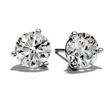 swag earrings hearts on three prong stud earrings 0 25 white gold swag uk
