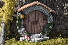 Fairy Door by Fairy Door Round Hobbit Whimsical Fairy Garden Doorfairy