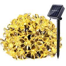 qedertek solar string lights qedertek solar string lights 21ft 50 led fairy flower blossom
