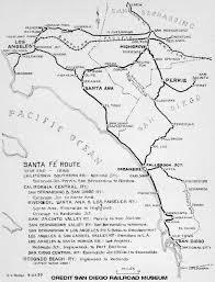 Southern Ca Map Southern California Railroad Map California Map
