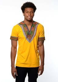 men u0027s african print dashiki t shirt gold u2013 d u0027iyanu