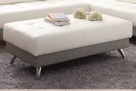 abela white leather ottoman steal a sofa furniture outlet los