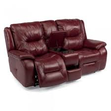 leather reclining power loveseat love seats living room