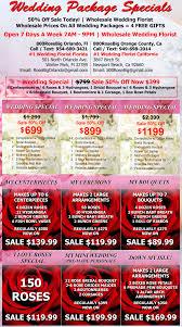 wedding flower packages wholesale wedding flower packages orange county wholesale wedding