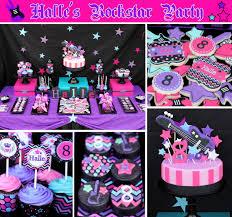 Birthday Decorations For Girls Rockstar Party Rockstar Invitation Rockstar Birthday