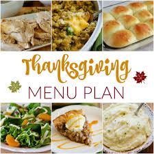 thanksgiving meal plans thanksgiving menu plan monday