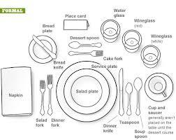 how to set a formal table formal dining setting visual ly