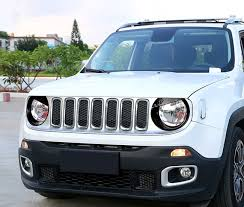 renegade jeep black black angry bird headlight bezels for jeep renegade 2015 2016 pair
