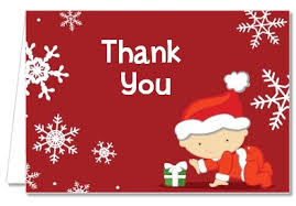 christmas thank you cards baby shower thank you cards christmas baby snowflakes thank you