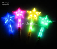 led toys large five pointed rods flash stick concert light