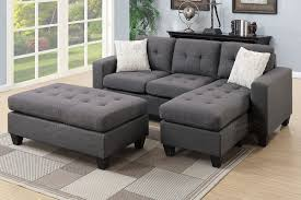 Reversible Sectional Sofa Blue Grey Reversible Sectional Sofa Ottoman