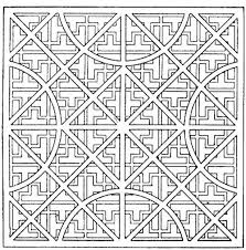 adults simple kaleidoscope coloring pages to print kaleidoscope