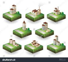 industrial theme isometric set icons on industrial theme stock vector 92137066