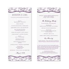 printable wedding programs free best free wedding program templates contemporary resume ideas