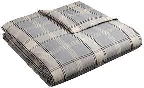 amazon com pinzon 160 gram plaid flannel duvet cover full queen
