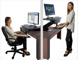 Electric Sit Stand Desk by Titan Adjustable Height Electric Motorized Sit To Stand Work Desk