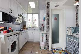 Washing Machine In Kitchen Design Pastoral Style Kitchen And Washing Machine Interior Design