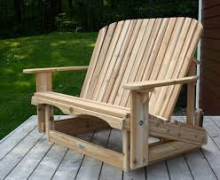 Gliding Adirondack Chairs Loveseat Glider