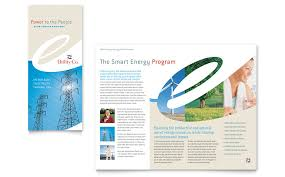 engineering brochure templates free utility energy company tri fold brochure template word publisher