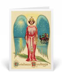 vintage angel victorian christmas card 36535 harrison