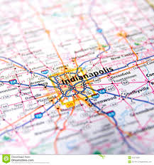 Highway Map Usa by Indiana Highway Map Close Up Stock Photo Image 42373938