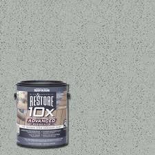 rust oleum restore 4 gal 10x advanced cape cod gray deck and