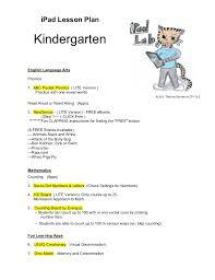 lesson plan 3 kindergarten levelkindergarten lesson plan