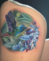 color realism hummingbird tattoo by misty locket tattoonow