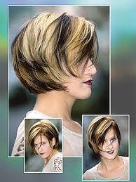 short chunky hairstyles bob hair style hair with highlight in blackand blonde short hair