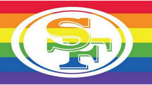 Rainbow Pride Flag 49ers Wave Pride Flag To Support Marriage Equality Nfl