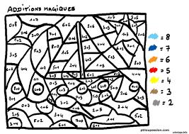 coloriage magique addition 27 dessin