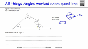 all things angles gcse maths foundation exam worked examples
