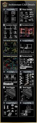 architektur cad 98 best free autocad blöcke details architektur