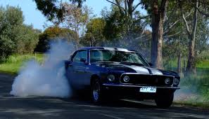 mustang fastback 69 1969 ford mustang mach 1 custom in grabber blue start up on my car