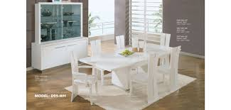 Lacquer Dining Room Sets White Lacquer Wood Dining Room Set D99