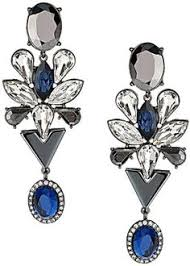 blue chandelier earrings sapphire navy blue earrings navy and royal blue wedding