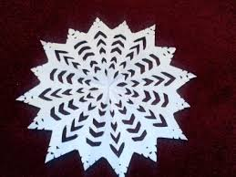 snow decoration how to make beautiful paper snow flakes for christmas decoration