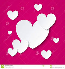 paper hearts valentines day card on pink royalty free stock