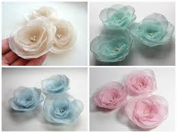 fabric flowers handmade organza flower appliques handmade sew on