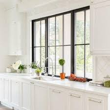 kitchen window design ideas black framed kitchen window design ideas