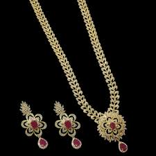 long necklace sets images Buy cz ruby long necklace set online jpg