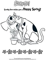 scooby doo colouring happy spring