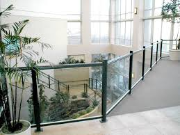 Stair Banister Glass Glass Railing Crystalite Inc