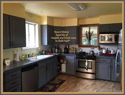 graphite chalk paint kitchen cabinets renee painted kitchen cabinets with chalk paint by