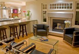 Stylish Family Room Brings Together The LC And The Wassily Chairs - Chairs for family room