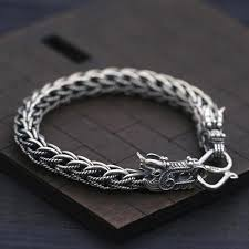 dragon bracelet silver images Men 39 s sterling silver dragon chain bracelet jpg